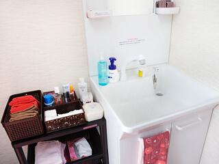 清潔感溢れる綺麗な洗面所